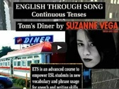 Song video with present progressive verbs