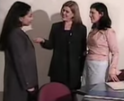 three women introducing themselves
